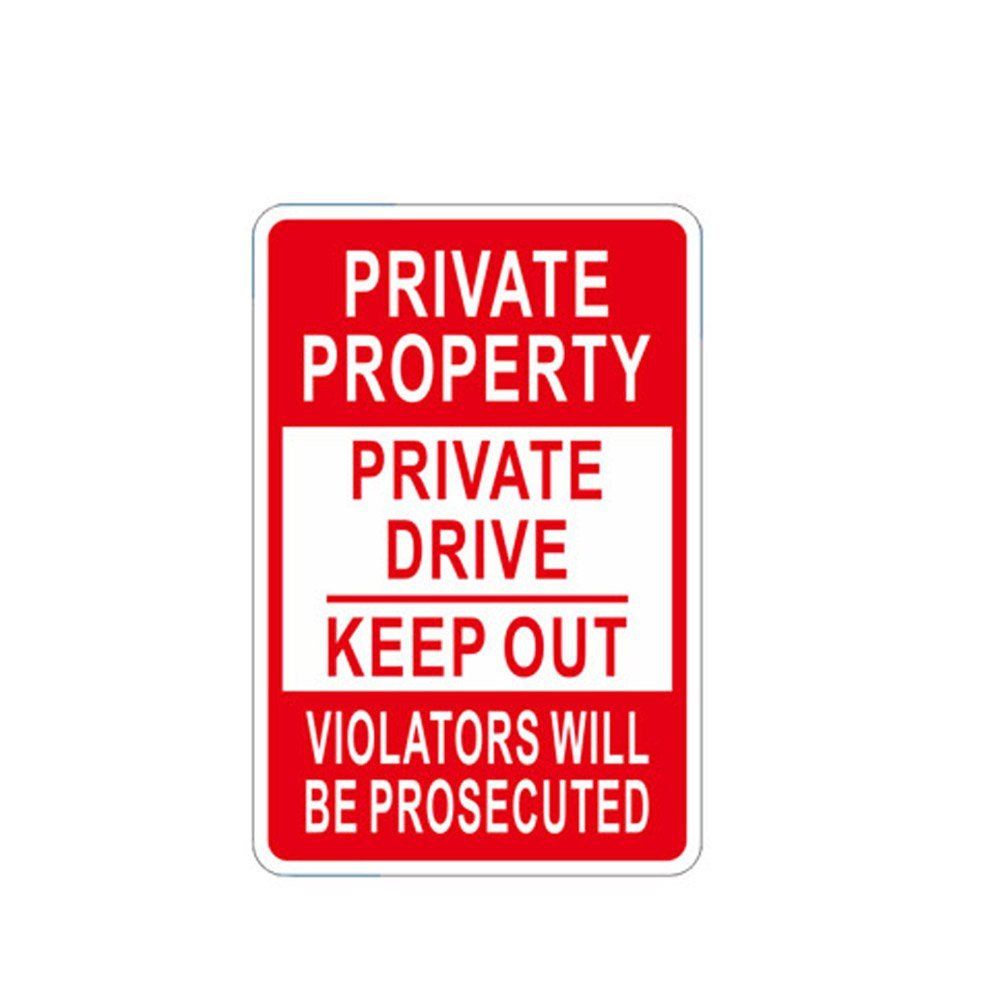 WSN09 Decorative No Trespassing Novelty Metal Sign Private Property Signs 12 x 1