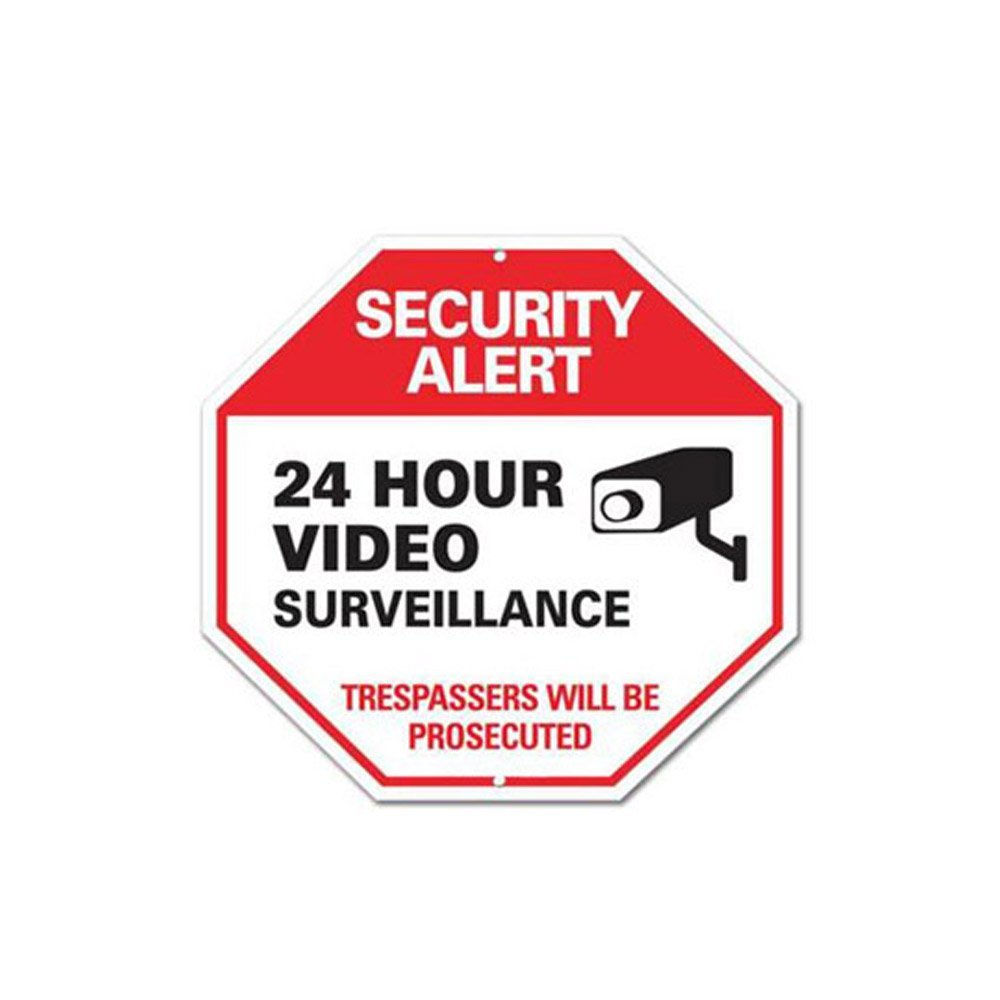 WSN07 Aluminum Video Surveillance Sign for CCTV 12 x 12 Inches