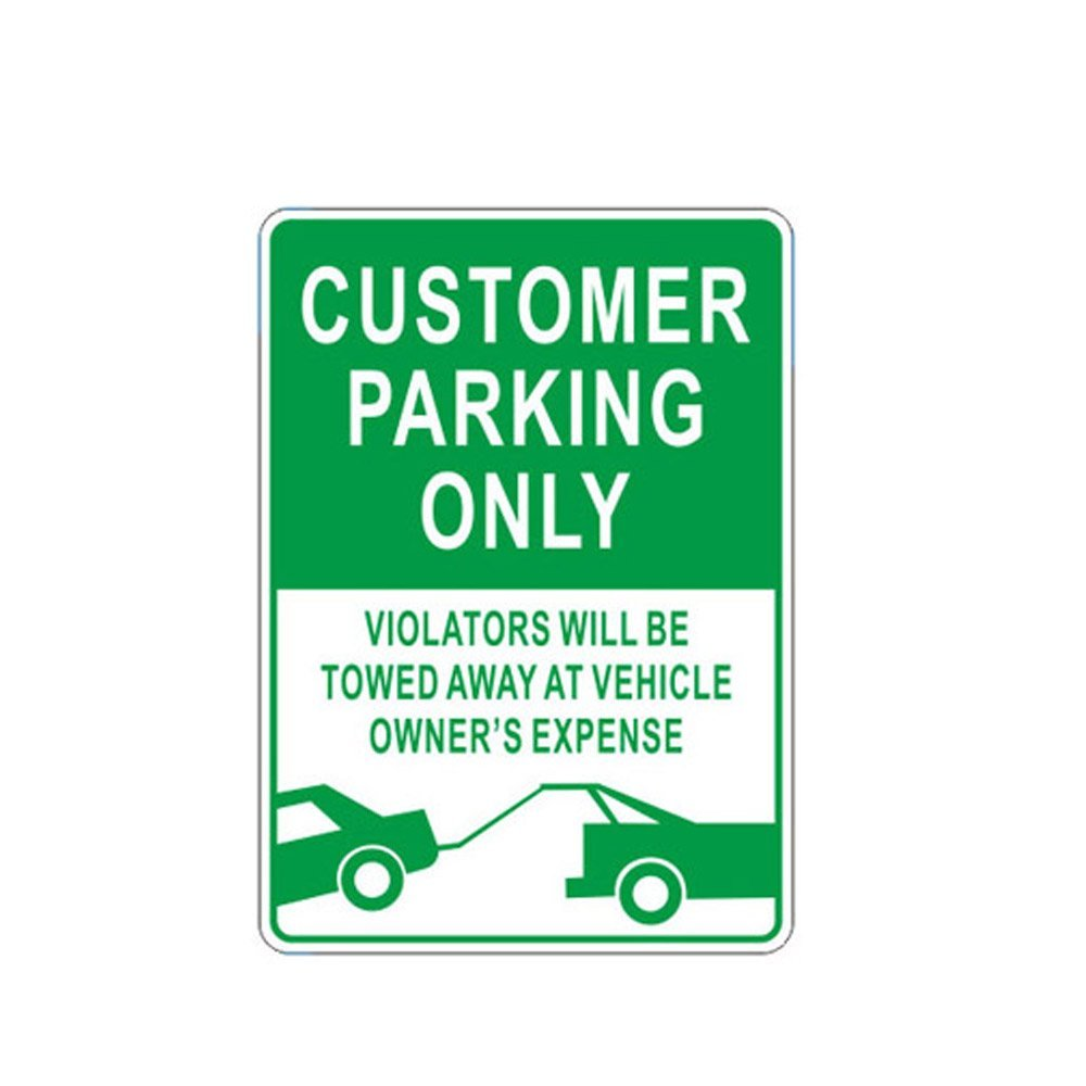 WSN05 Aluminum Customer Parking Only Sign Metal Signs with Tow Truck Graphic 10
