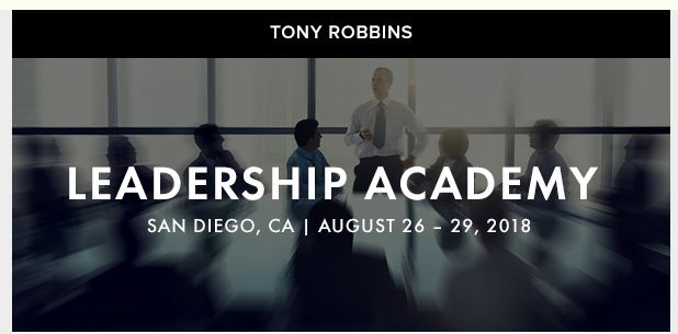 Tony Robbins - Leadership Academy