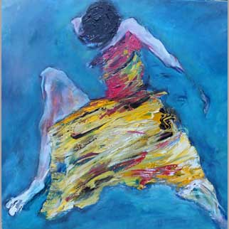 """Striding Forward"" Original Dancer Painting"
