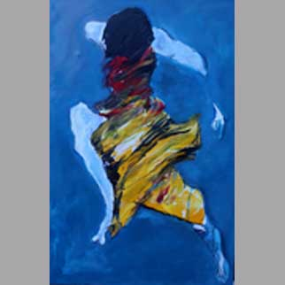 """Lift"" Original Figurative Dance Painting"