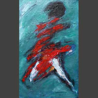 """Red Dress"" Original Dancer Painting"