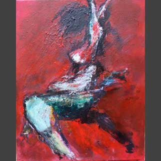 """Seize The Instant"" Original Dancer Painting"