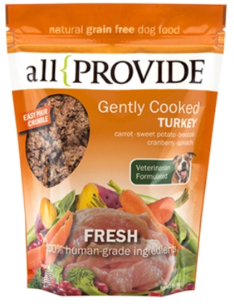 ALLPROVIDE TURKEY CRUMBLE GENTLY COOKED 2LB