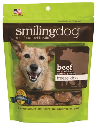 HERBSMITH DOG TREAT FREEZE DRIED BEEF 2.5 OZ