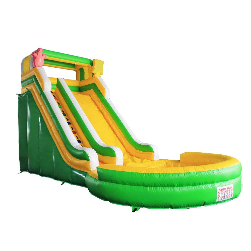 BHC009 Commercial Grade Inflatable Bounce House Water Slide with Pool and Blower