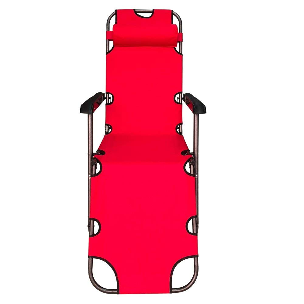 FCBC3R Foldable Zero Gravity Camping and Lounge Chair Red