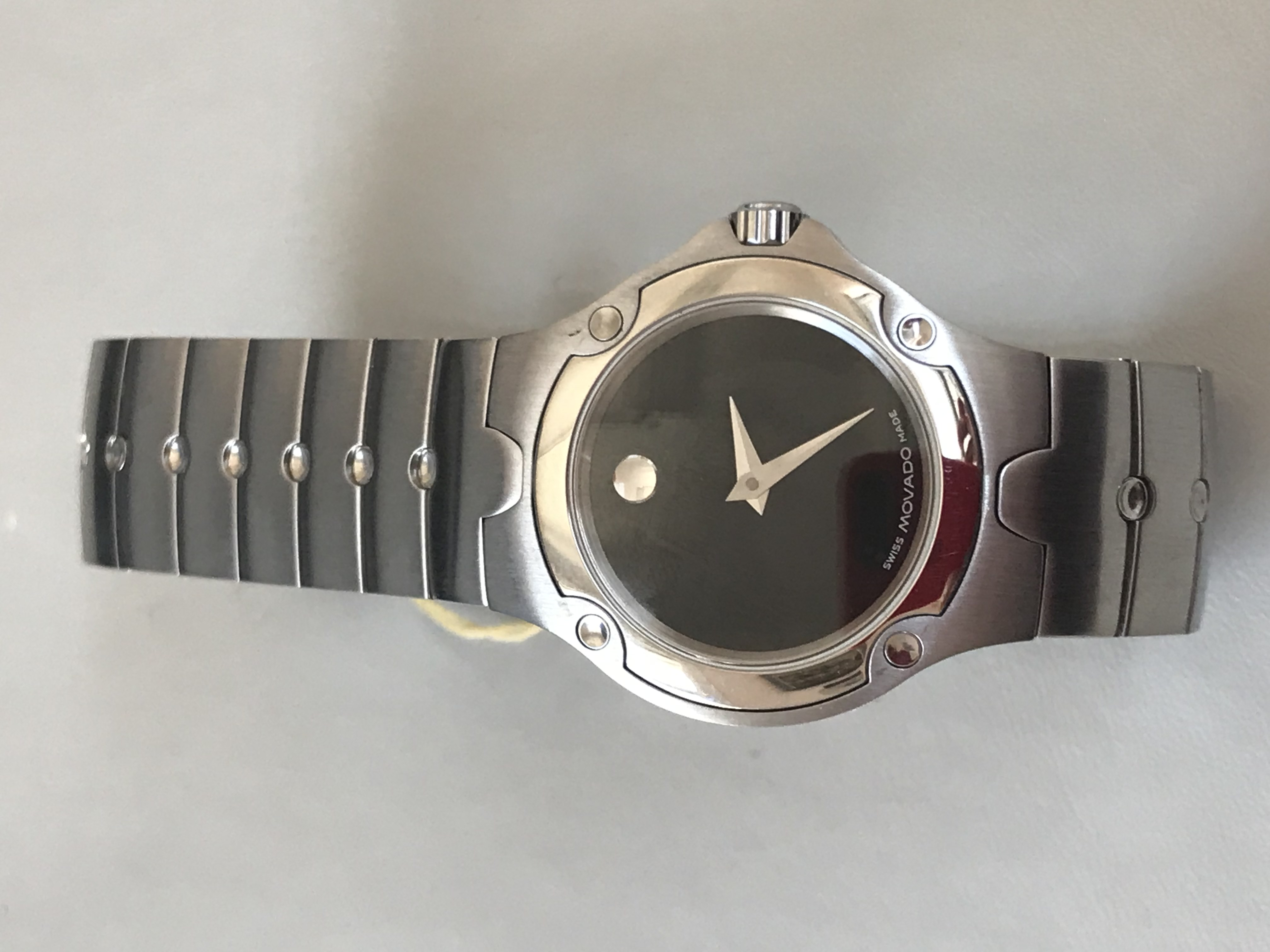 Lady's Movado Watch With Black Dial