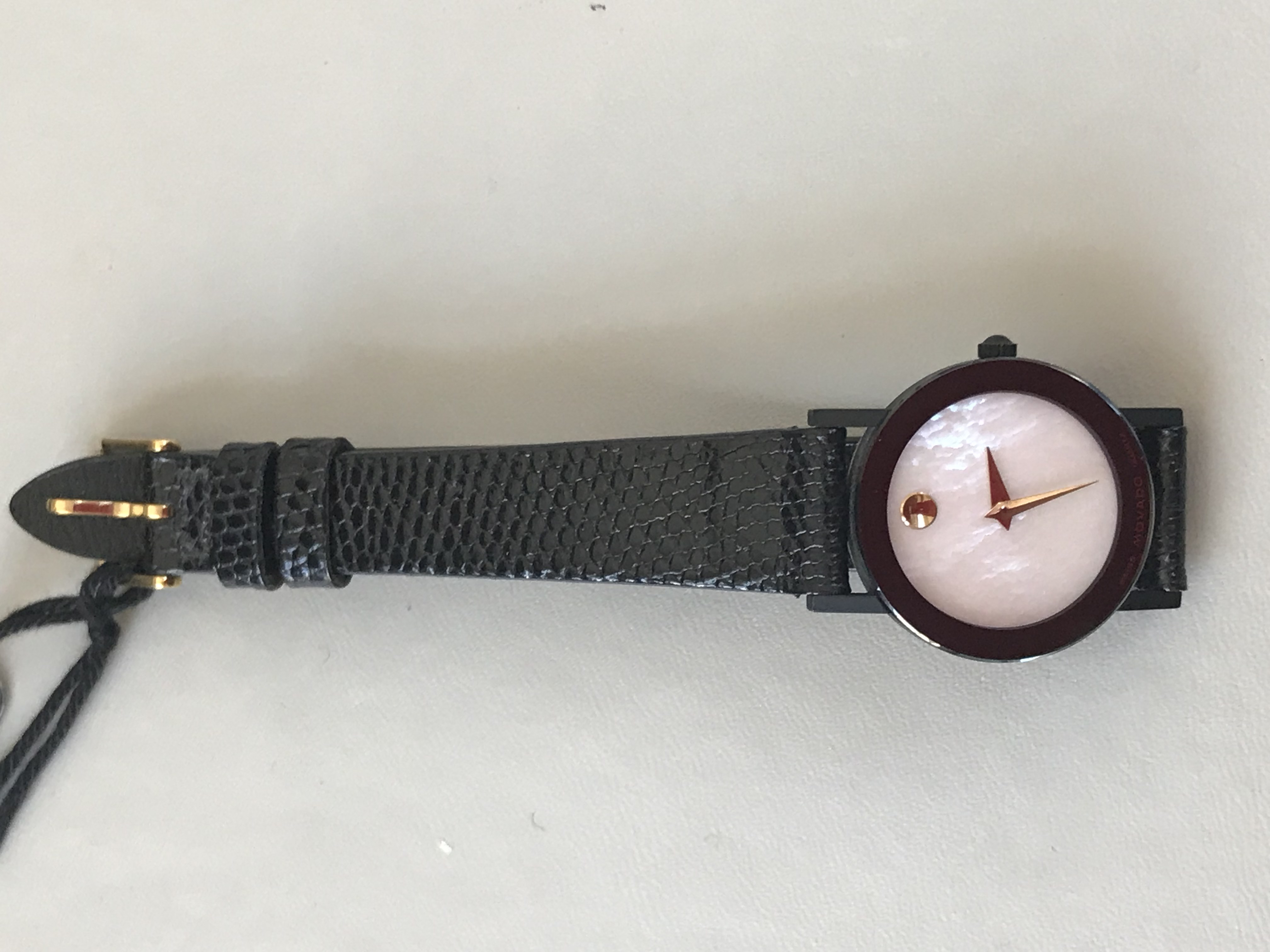 Lady's Movado with Black Strap