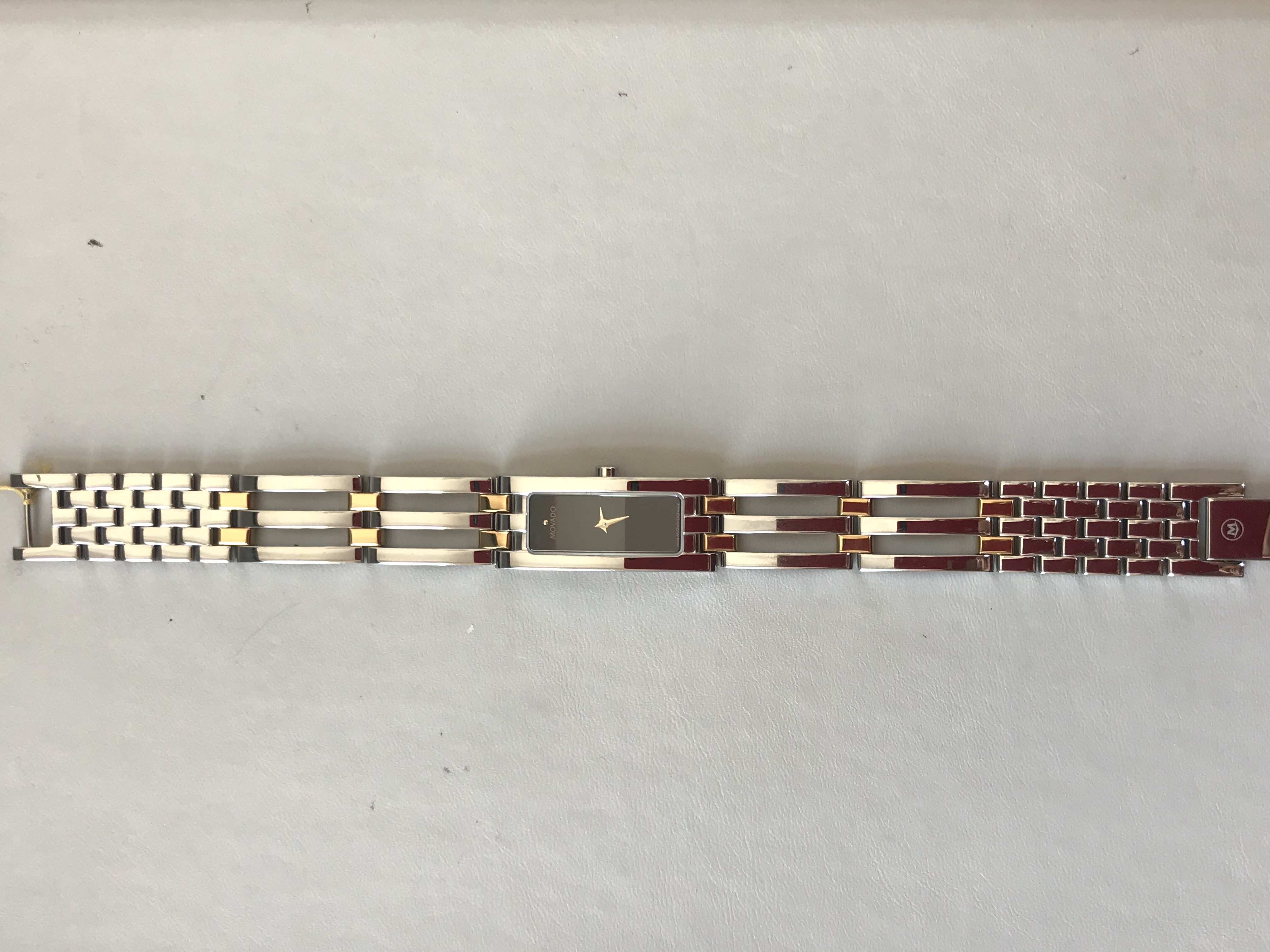 Lady's Movado Watch with Open Link Bracelet