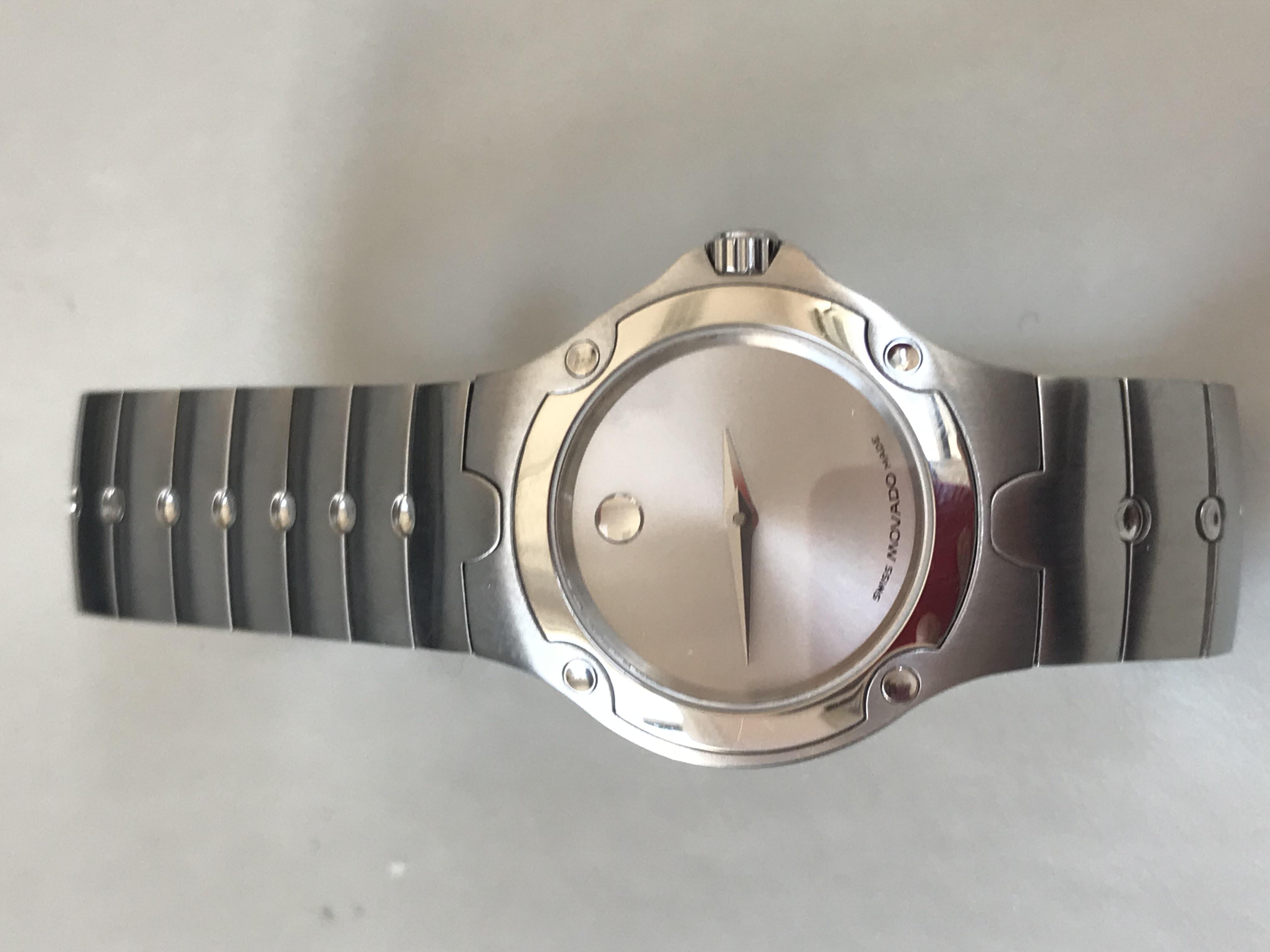Lady's Movado Watch with Silver Dial