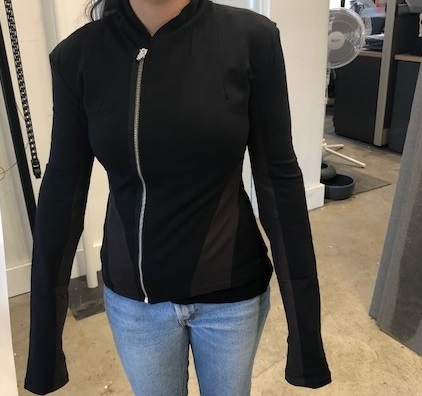 Black / Chocolate Workout Style Jacket (Large-Size)