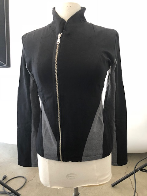 Black / Charcoal Workout Style Jacket (XL-Size)