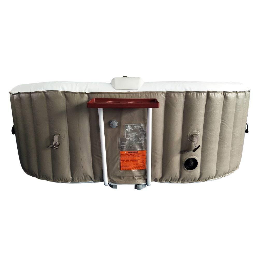 BizX HTIO2BRWH Oval Hot Tub- 145 Gallon