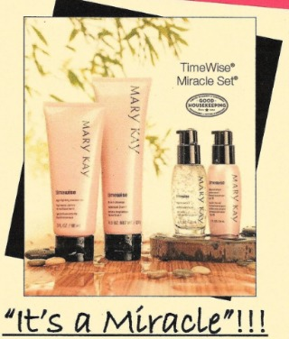 Mary Kay MIRACLE SET - 3-1 cleanser, Age Fighting Moisturizer, Day Solution and Night Solution