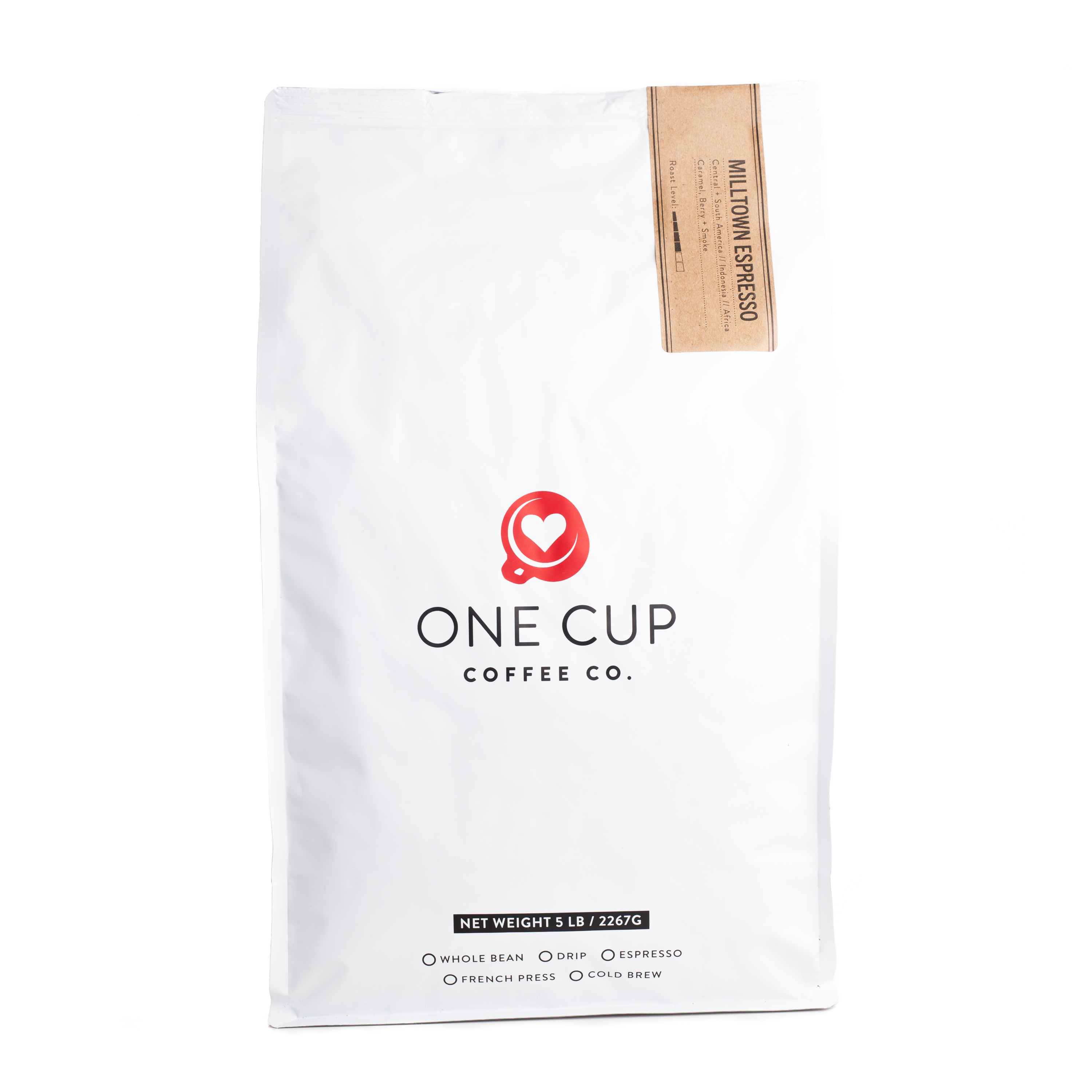 ONE CUP 5lb Milltown Espresso Coffee