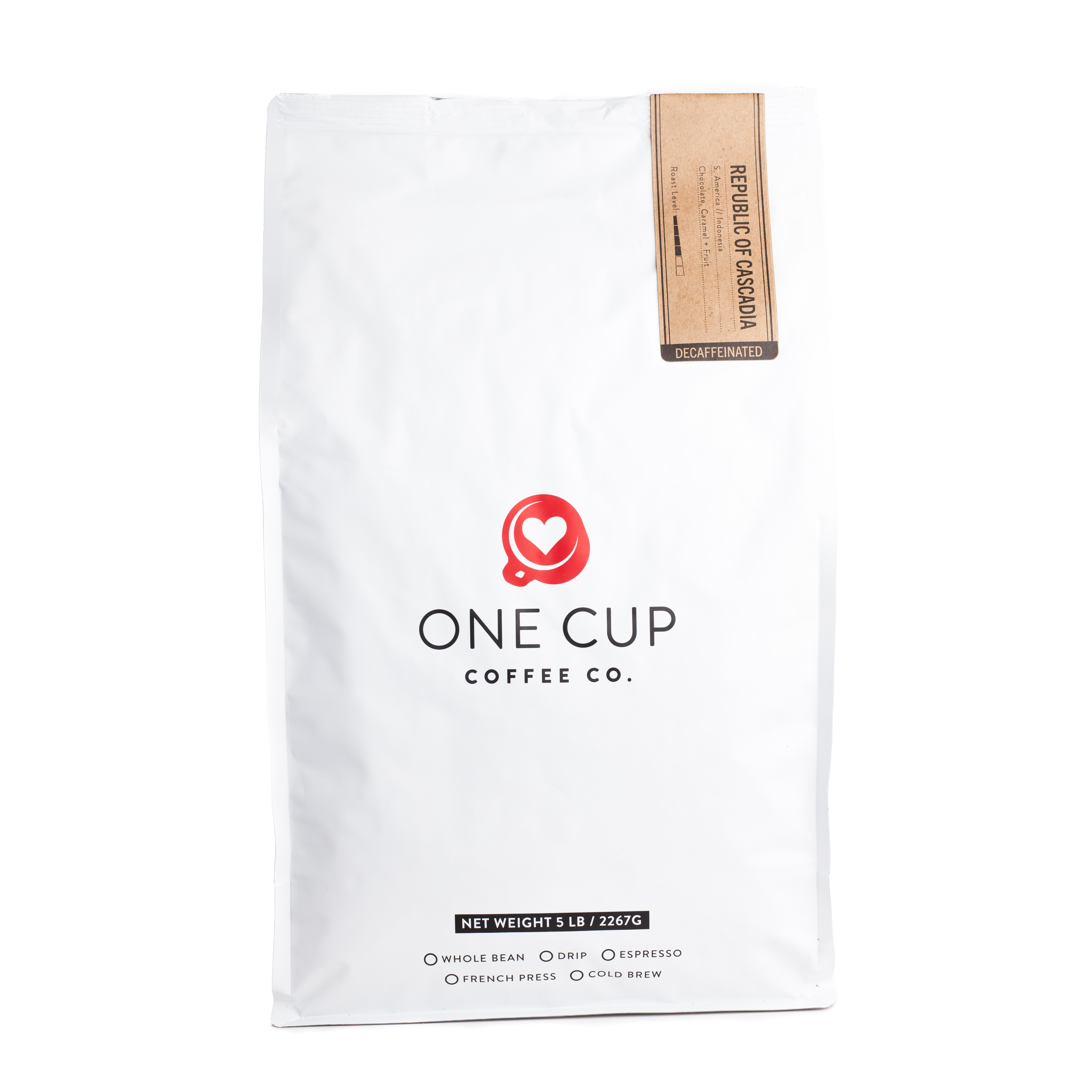 ONE CUP 5lb Republic of Cascadia Decaf