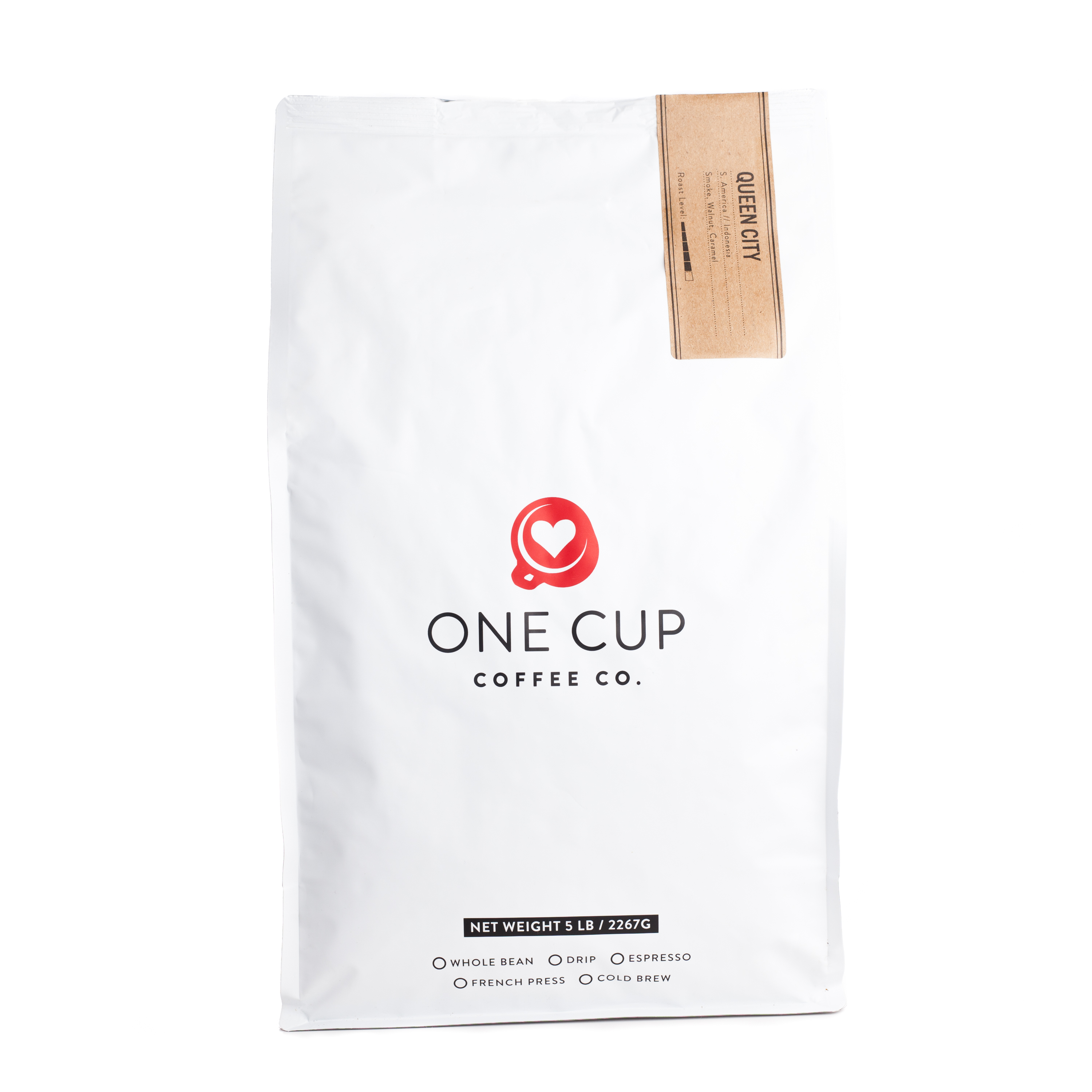 ONE CUP 5lb Queen City Blend Ground Coffee