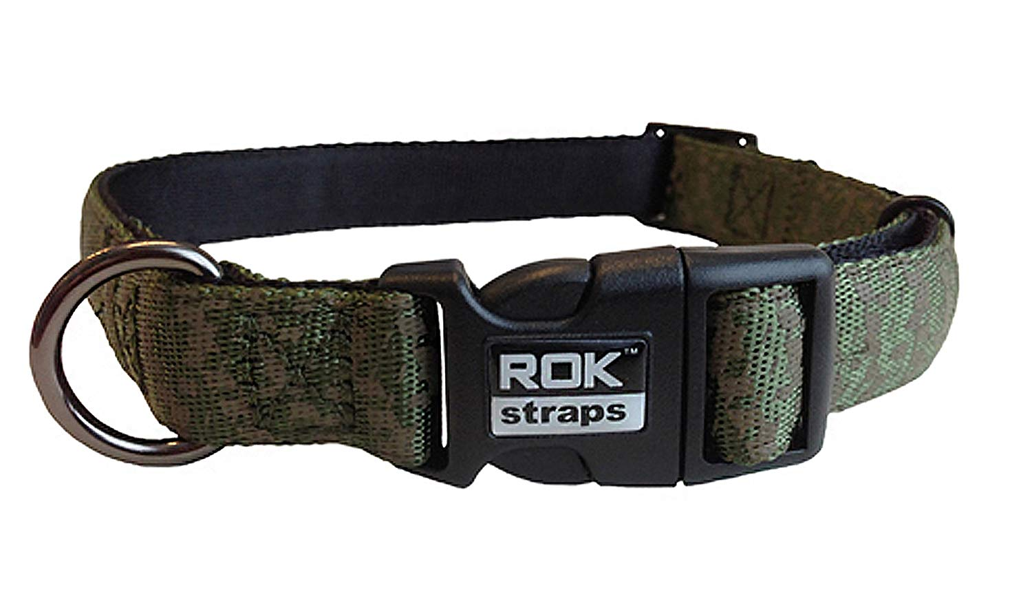 ROK STRAPS COLLAR JUNGLE CAMO MED