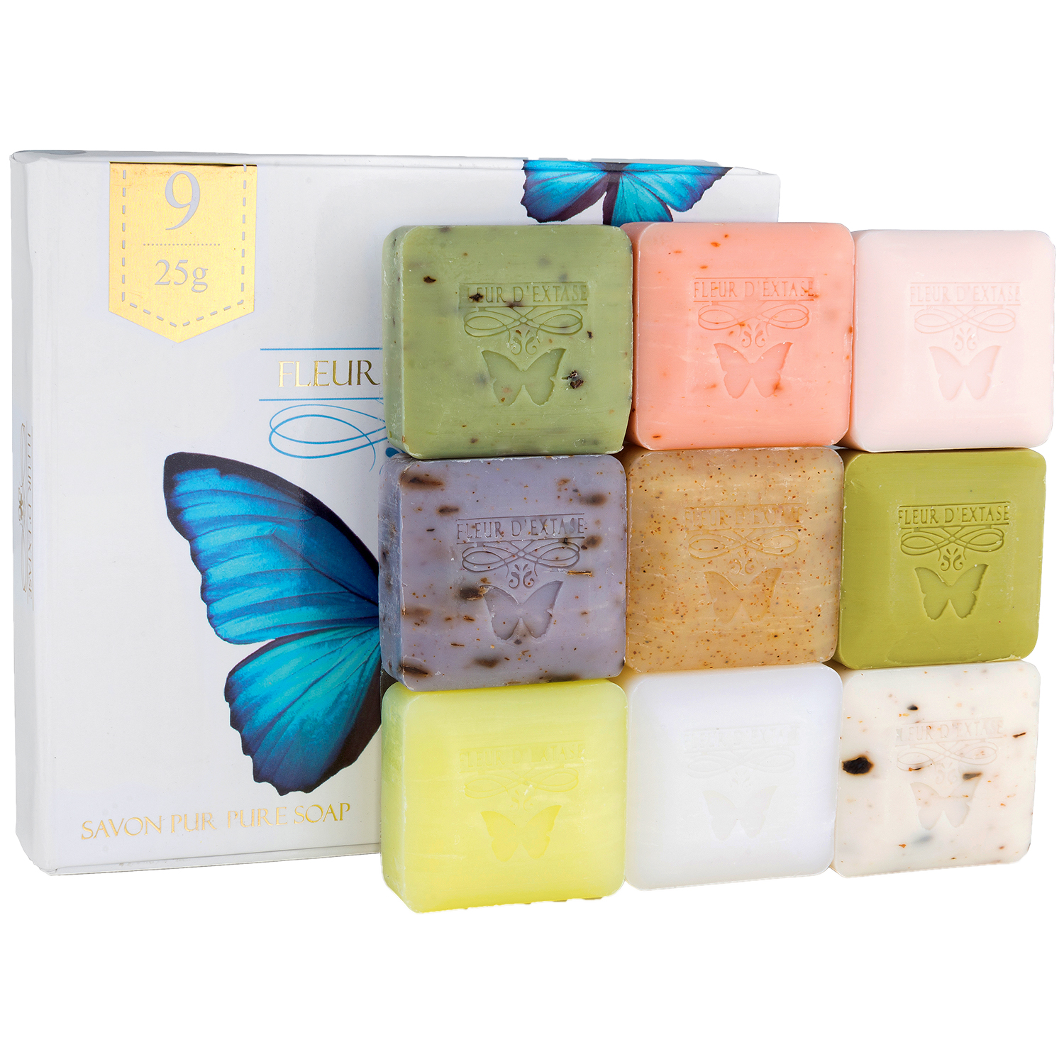 Ecstacy Soaps - Individually Wrapped Set of 9 x 25 Gram Bars