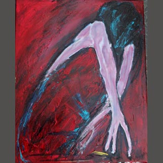 "Framed Original Figurative Dancer Painting entitled ""Beyond The Grasp"""