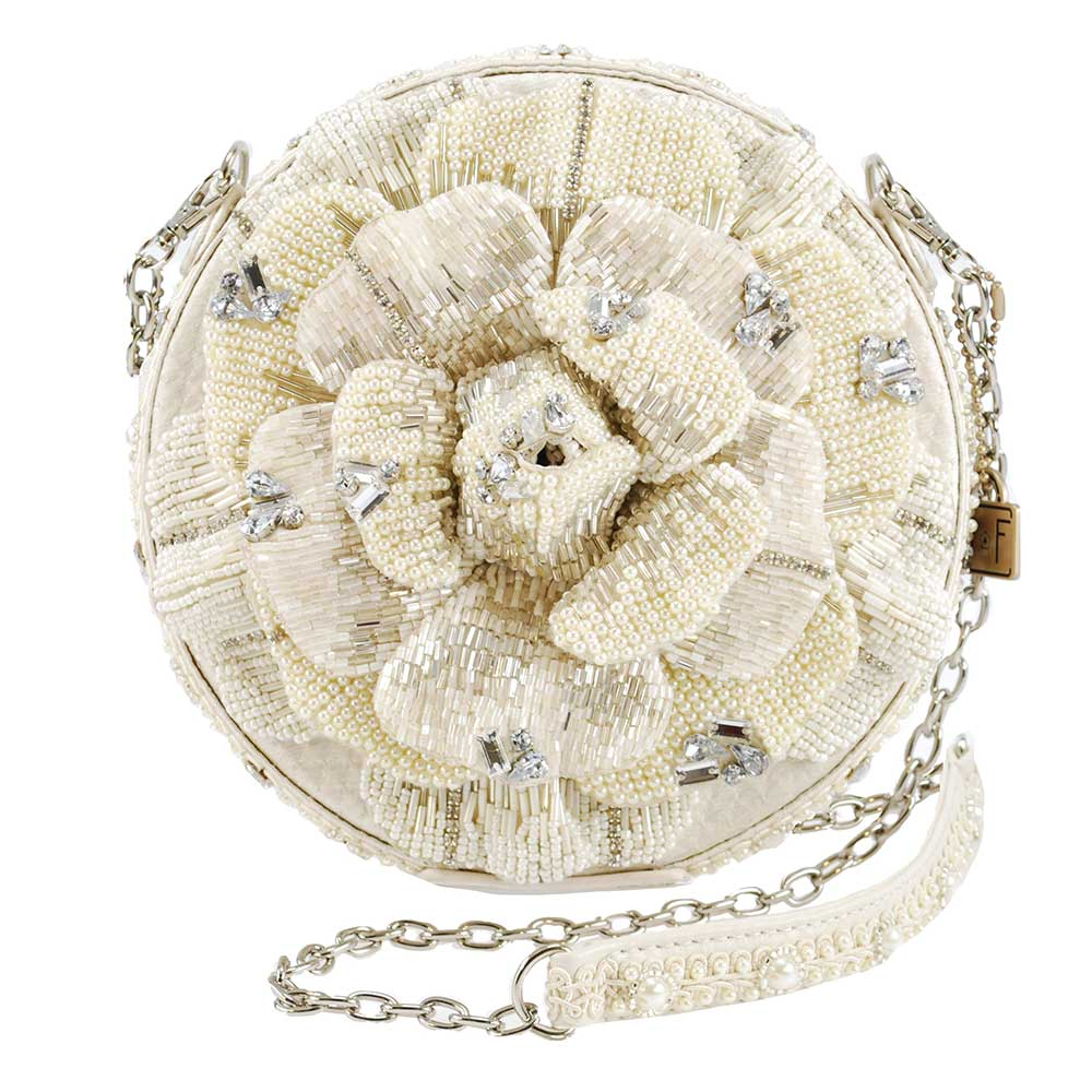 Mary Frances 'Petals of Pearls' Handbag