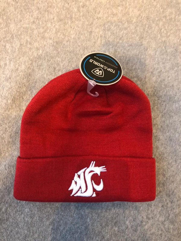 WSU Crimson Beanie with fold