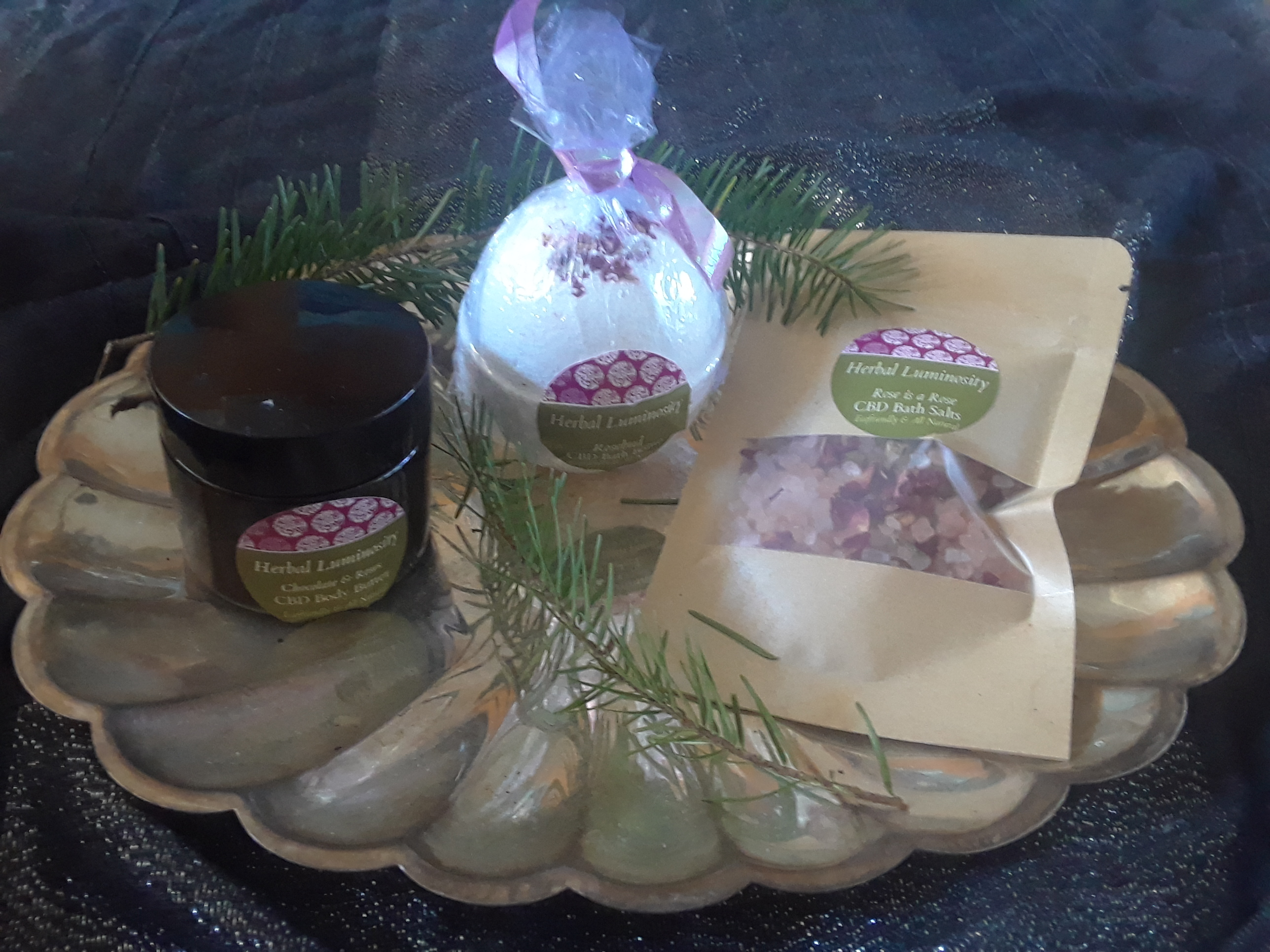 Herbal Luminosity Artisanal CBD Bathing and Balm Gift Pack