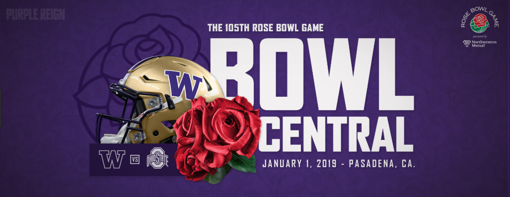 1/1 Rose Bowl Tickets UW Side- Section 7 Lower Rows
