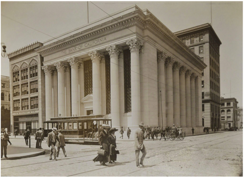 The Bank of California, 1915, Albumen Photograph