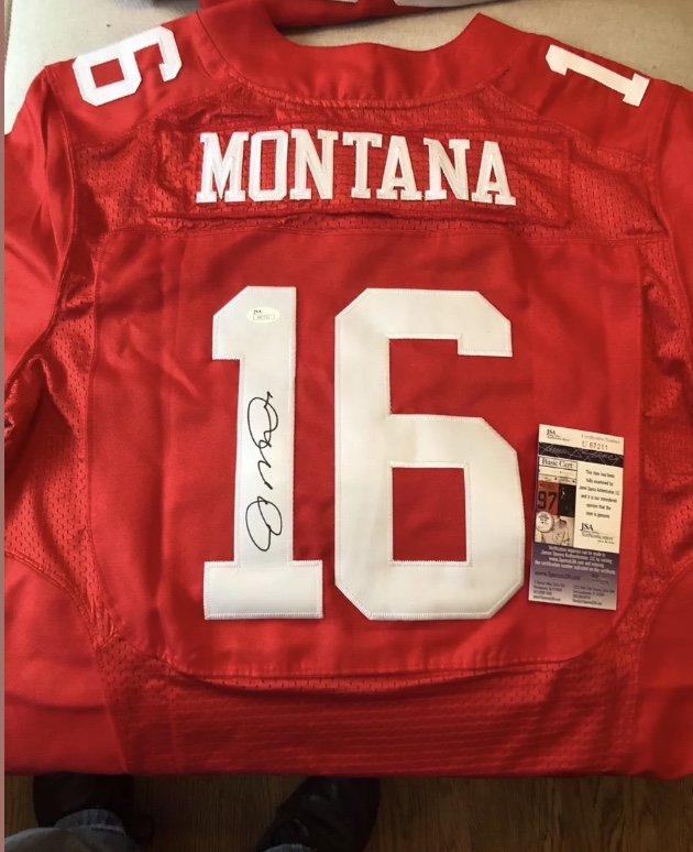 new product 3768e d9b83 BizX - Joe Montana 49ers Autographed Jersey