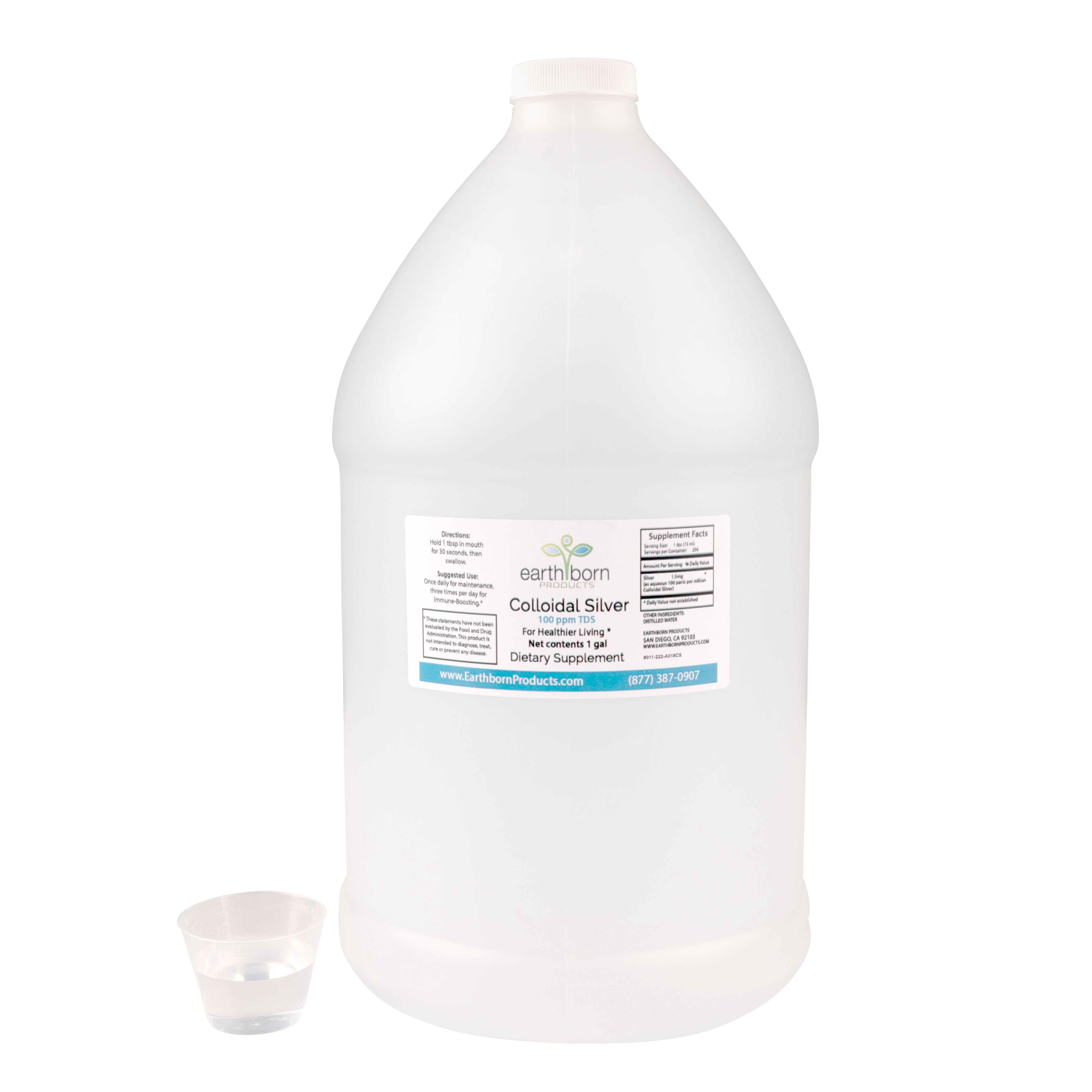 Colloidal Silver 100 PPM - 1 gallon Bottle