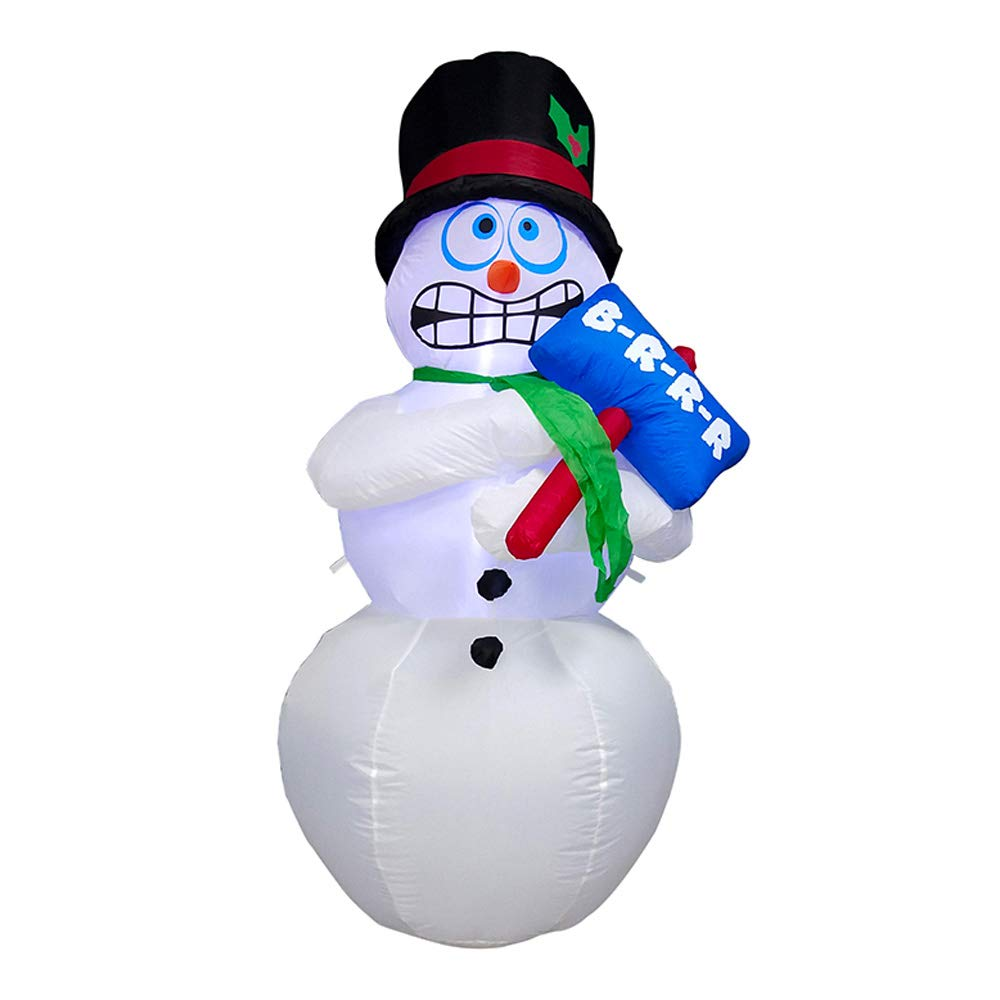 CHID012 Inflatable LED Shivering Snowman for Yard with Sign 6 Foot