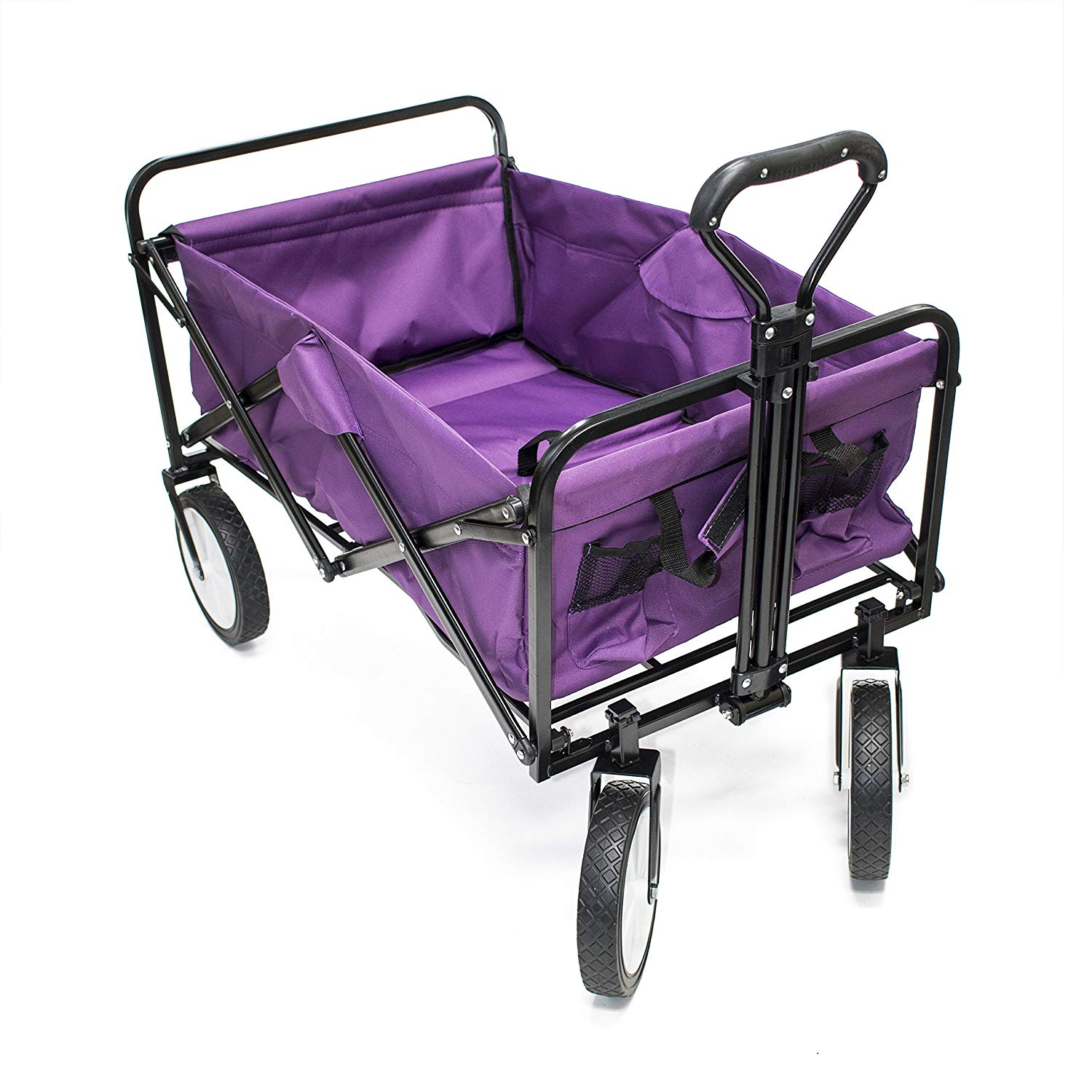 TC1012 Multipurpose Folding Utility Wagon with Adjustable Retractable Handle 35