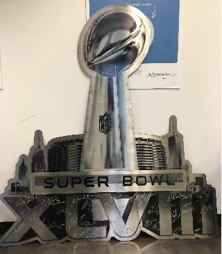 RARE - Custom Steel Signed Super Bowl Trophy  - Delivered by 2 Seahawks