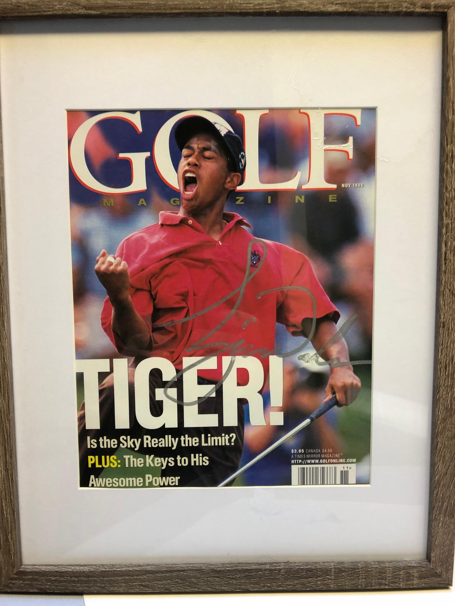Tiger Woods signed Golf Magazine cover