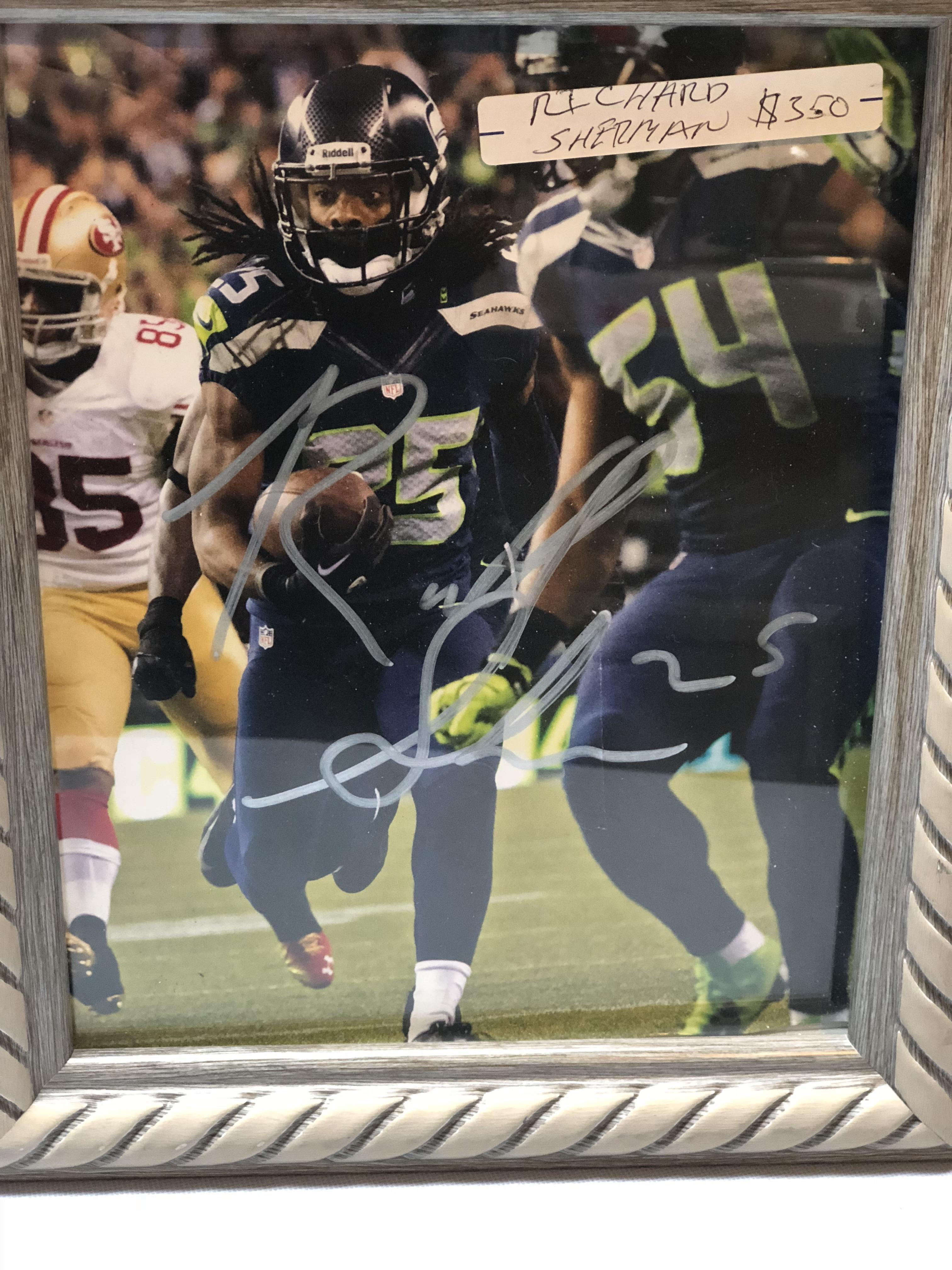 Autographed Richard Sherman photo