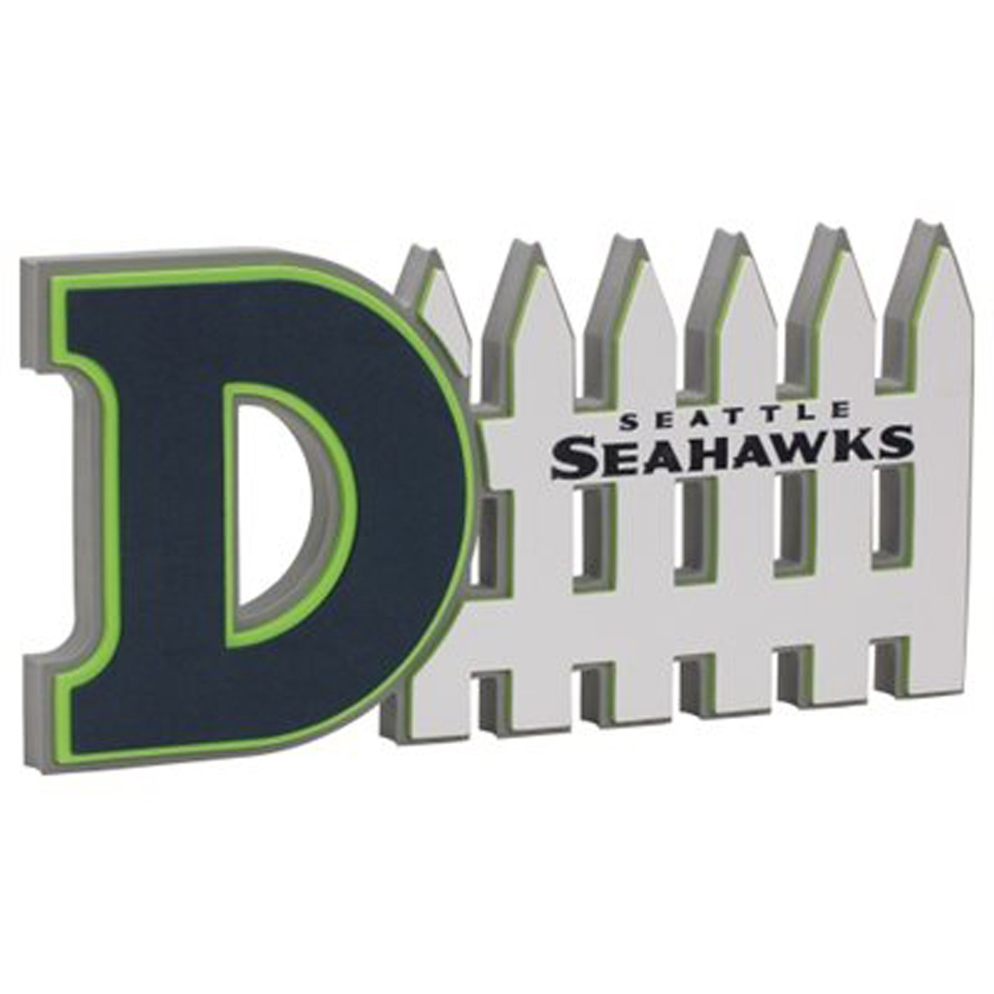 Seahawks or Raiders or Cowboys or Tampa Bay 3D Foam Defence Sign