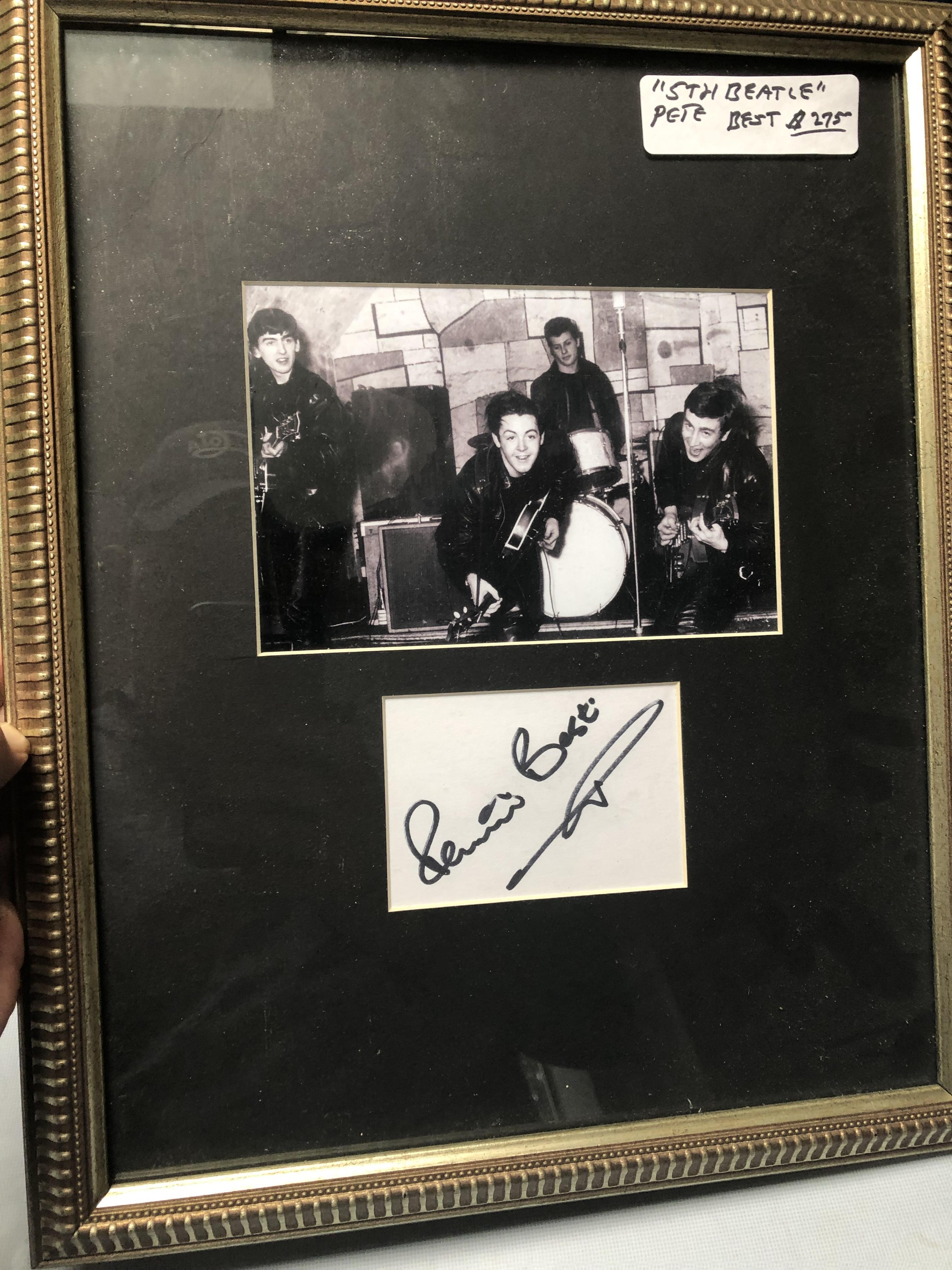 Pete Best - The 5th Beatle Framed with certificate of authenticity