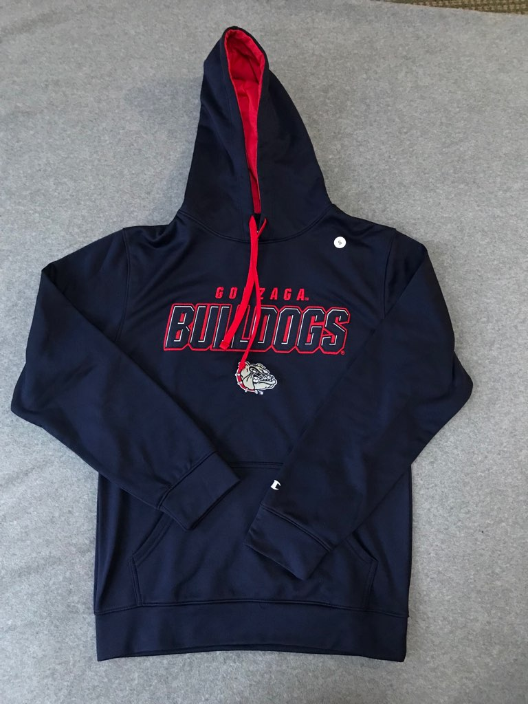 Gonzaga NWT Navy Embroidered Hoody Small