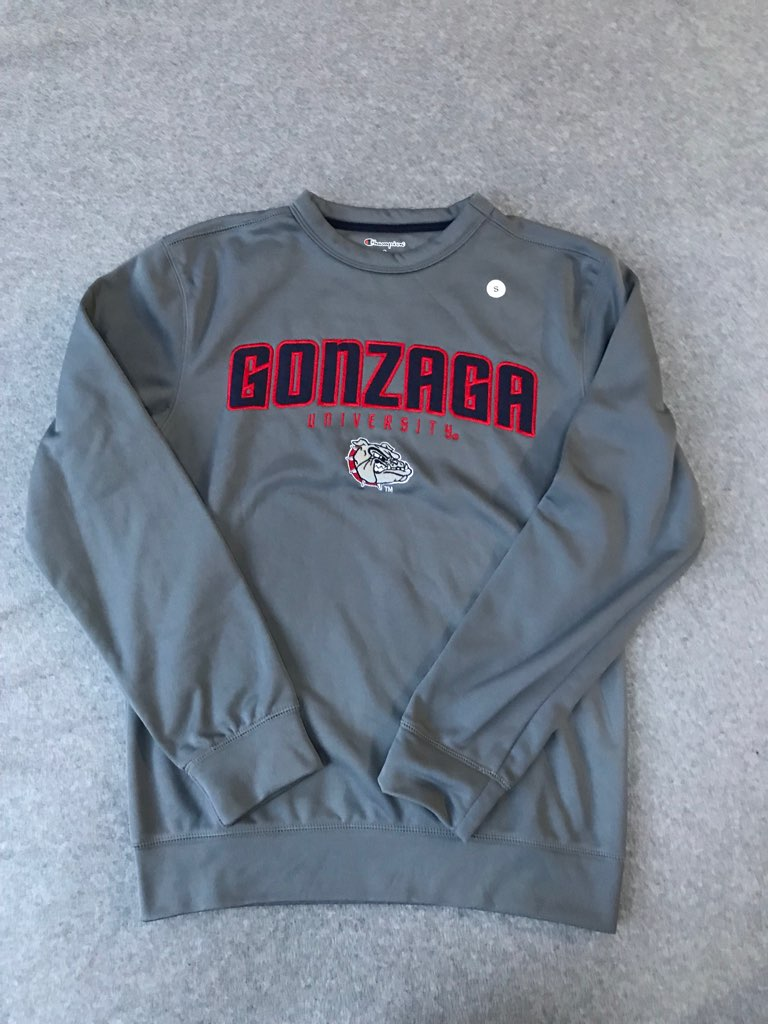Gonzaga NWT Grey Crewneck Embroidered size Small