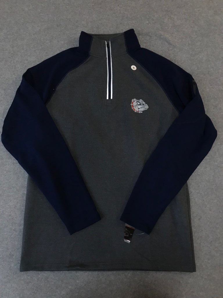 Gonzaga NWT Quarter Zip Embroidered Size Small
