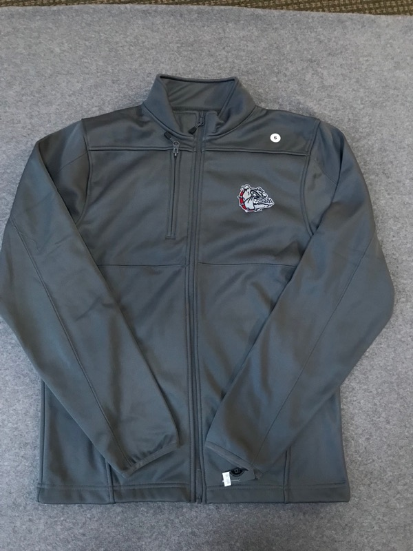 Gonzaga NWT Grey Full Zip Jacket Size Small