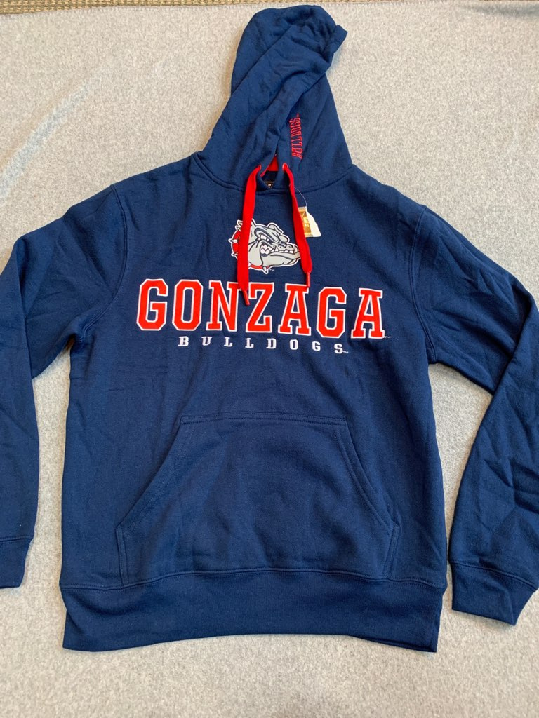 Gonzaga NWT Navy Embroidered Hoody Size Small