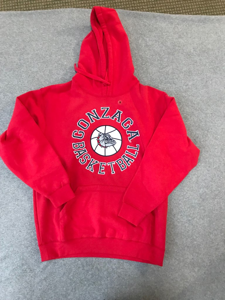 Gonzaga NWT Red Basketball Hoody Size Medium