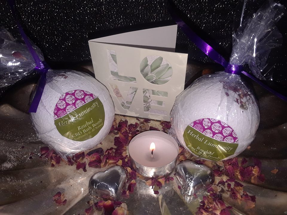 Spa package for Employees & Others during COVID! Rosebud CBD Bath Bomb Gift Set