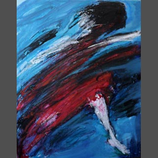 "Framed Original Dancer Painting ""Thunderstorm"""