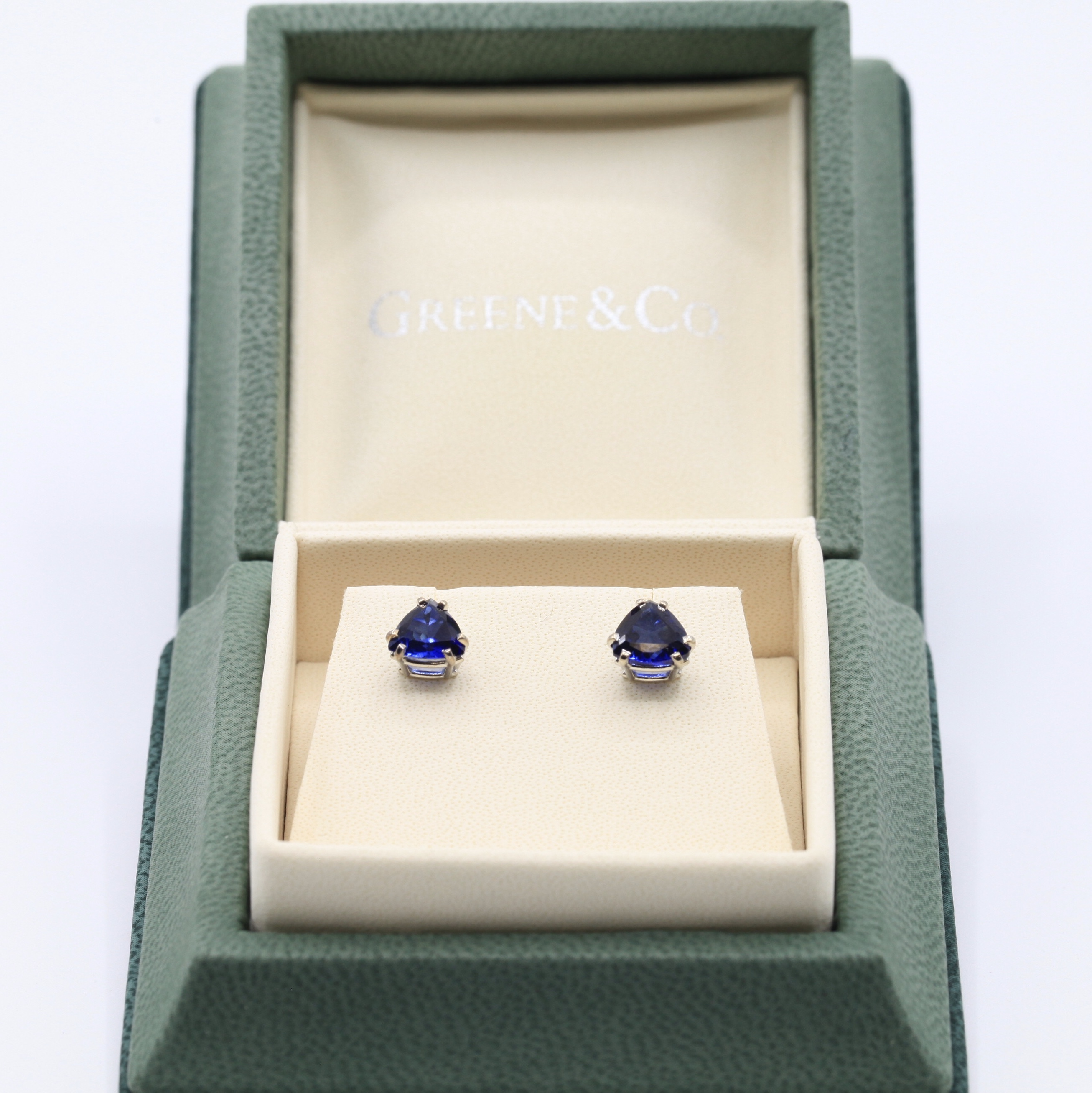 Sapphire Earrings Set
