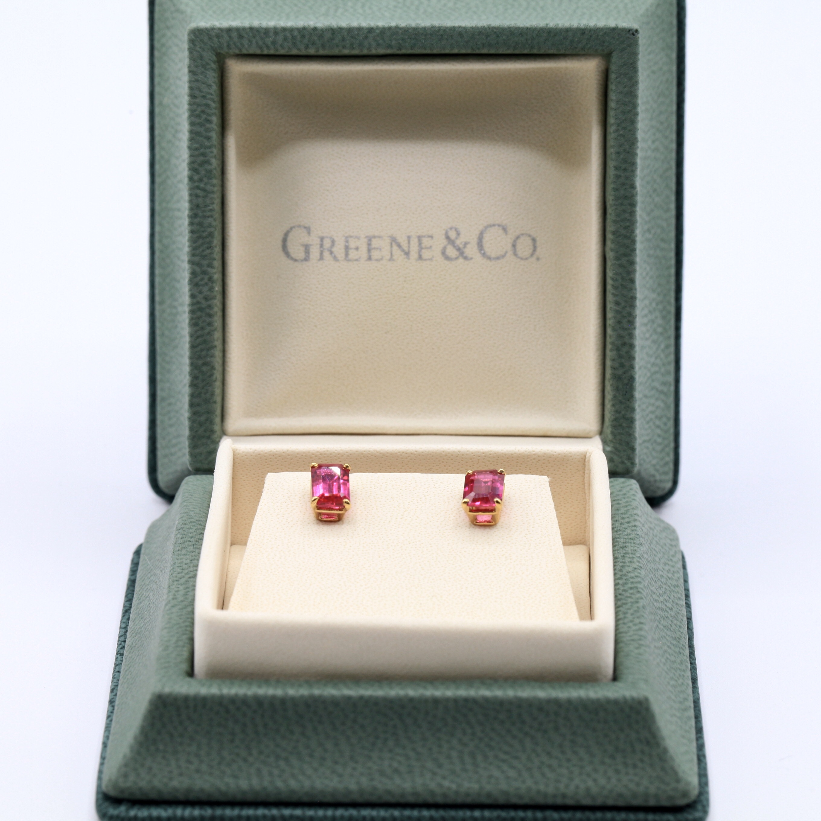 Ruby Earrings Set